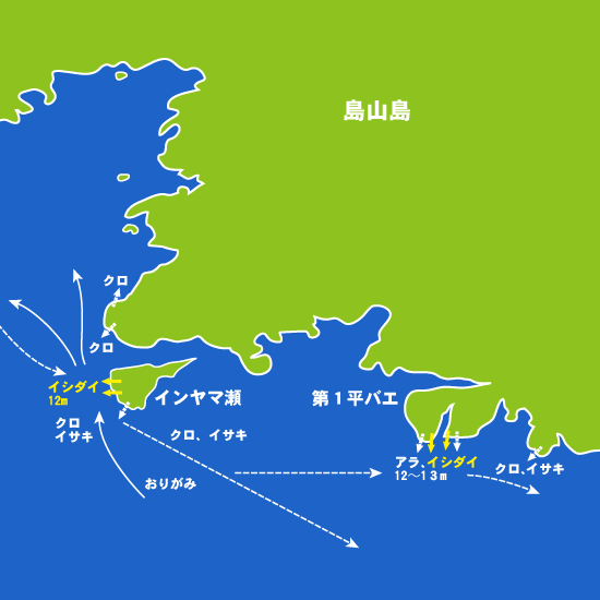 182 島山島・インヤマ瀬、第一平バエ:都丸,大鳥丸
